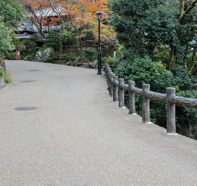 Nationaal park minoo of minoh in de herfst, osaka, japan
