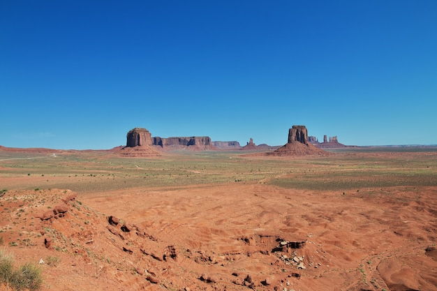 Nationaal park monument valley in utah en arizona van de verenigde staten