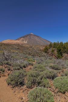 Nationaal park teide, vulkanisch landschap, tenerife, canarische eilanden, spanje