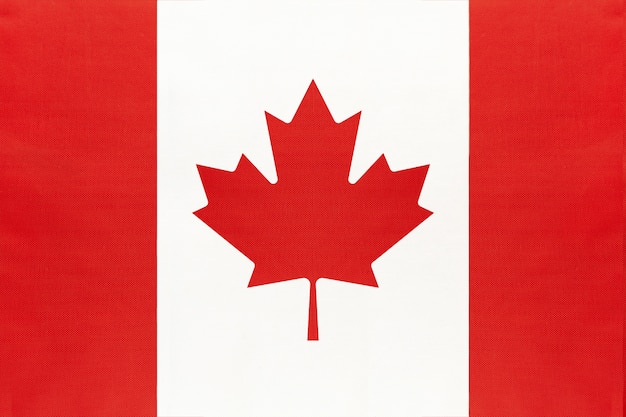 Nationale de stoffenvlag van canada, symbool van het internationale land van wereld noord-amerika.