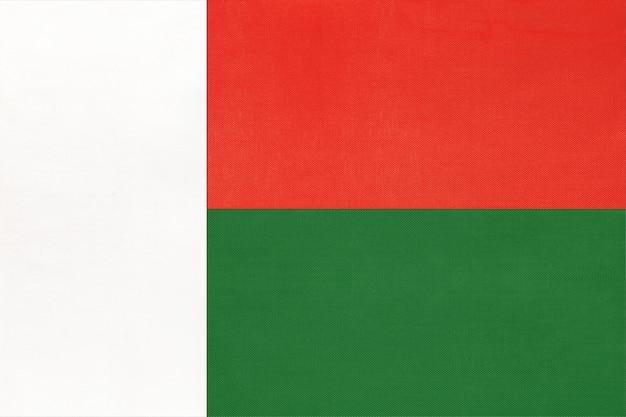 Nationale de stoffenvlag van madagascar.