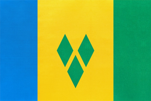 Nationale de stoffenvlag van saint vincent en van de grenadines