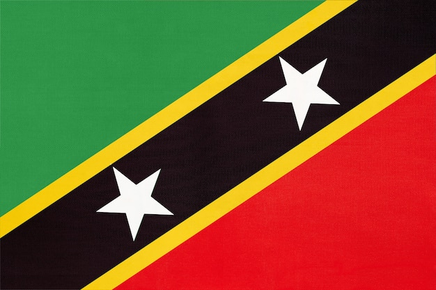 Nationale de vlag van saint kitts en nevis