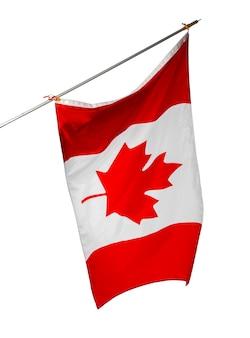 Nationale vlag van canada geïsoleerd op een witte achtergrond