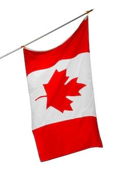 Nationale vlag van canada geïsoleerd op wit