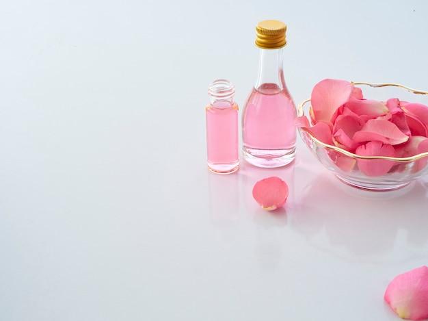 Natural spa set van roos en geurkaars potpourri