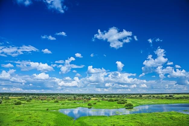Natuur zicht op veld en hemel