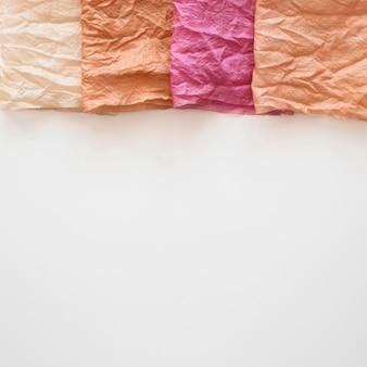 Natuurlijk gepigmenteerd stel doeken arrangement met kopie ruimte