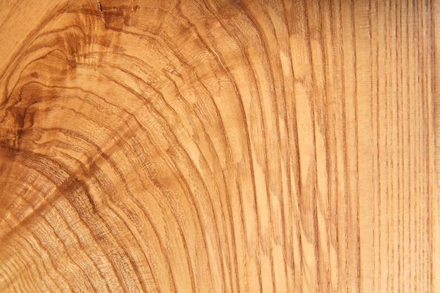 Natuurlijk hout met ringen en textuur van houttextuur.