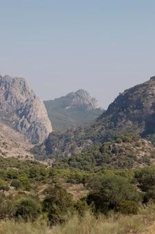 Natuurlijk landschap met bergen