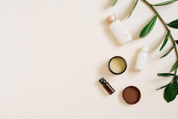 Natuurlijke biologische cosmetica voor lichaams- en gezichtsverzorging