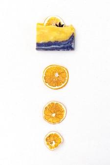 Natuurlijke citrus spa handgemaakte zeep