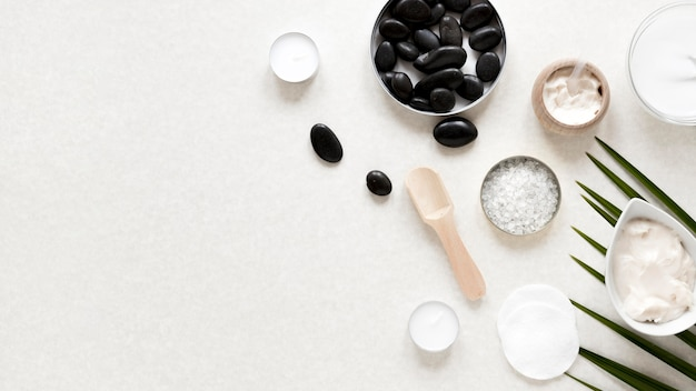 Natuurlijke cosmetica concept met kopie ruimte
