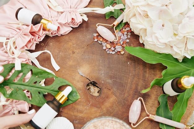 Natuurlijke cosmetica concept Premium Foto