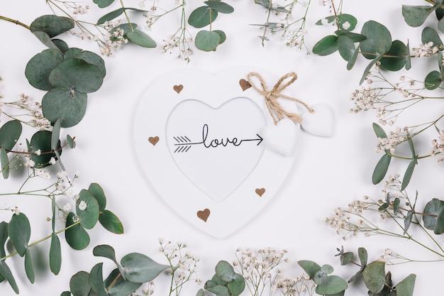 Natuurlijke decoratie met een hart