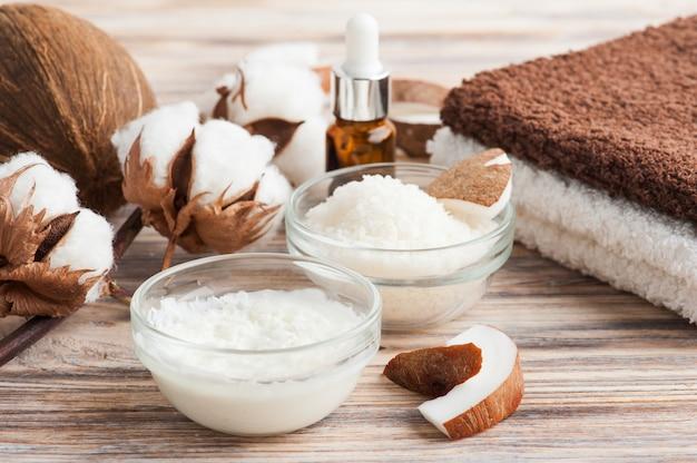 Natuurlijke haarbehandeling met kokosnoot