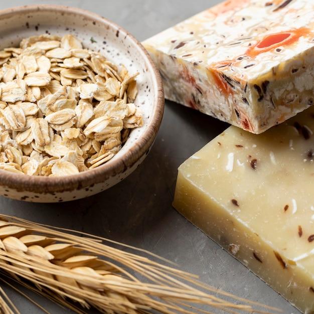 Natuurlijke handgemaakte zeep van tarwe