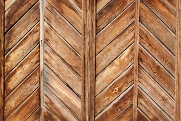 Natuurlijke houten geometrische muur