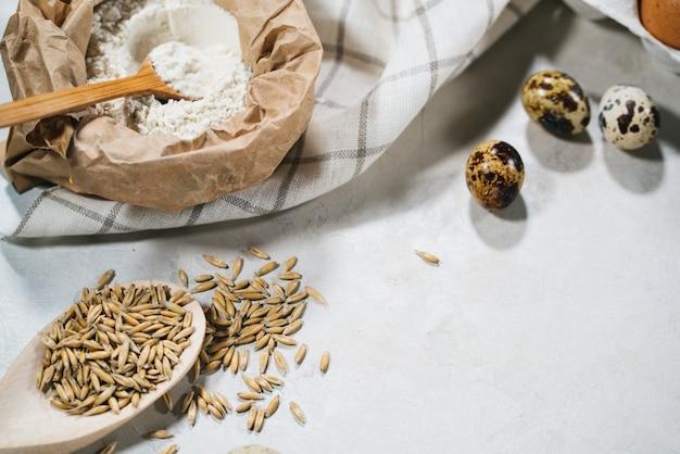 Natuurlijke ingrediënten voor het bakken