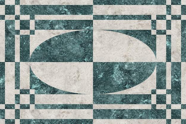Natuurlijke marmeren tegels met geometrische patronen.