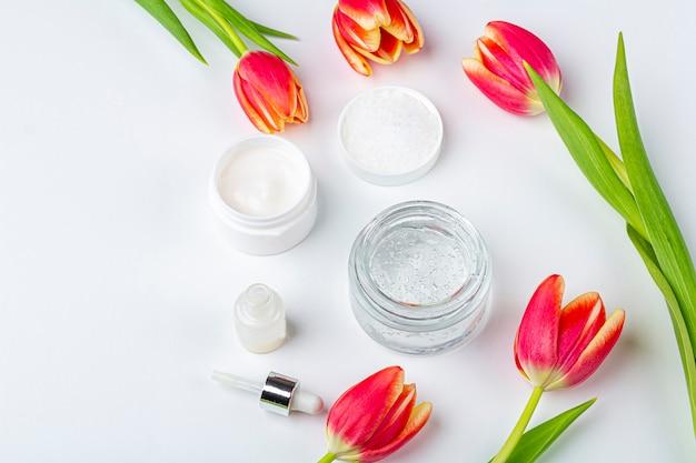 Natuurlijke organische zelfgemaakte cosmetica concept