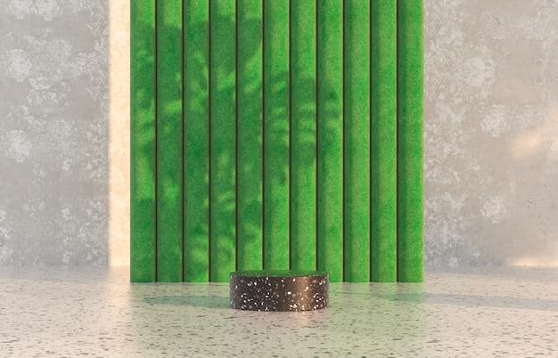 Natuurlijke schoonheid podium achtergrond met voorjaar concept terrazzo textuur