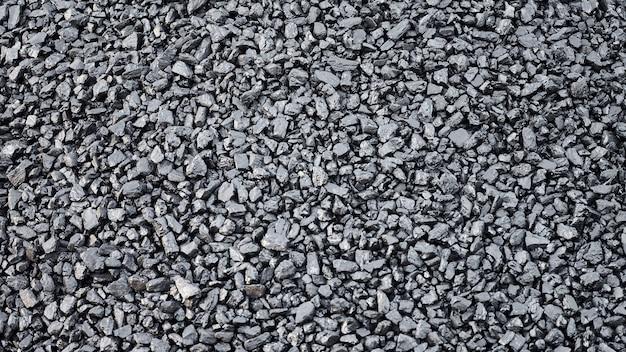 Natuurlijke steenkool textuur voor achtergrond. kolenindustrie. sjabloon, bovenaanzicht, close-up.