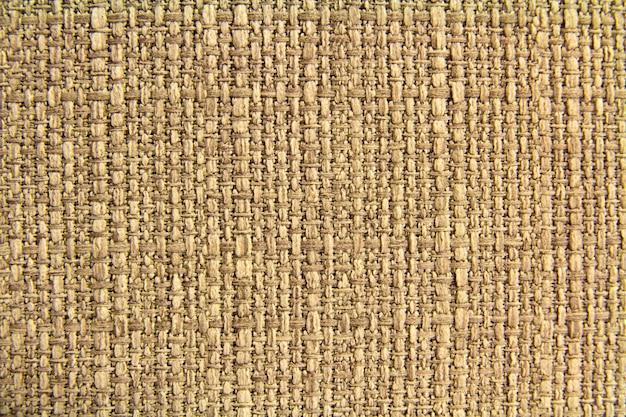 Natuurlijke stof linnen textuur voor ontwerp, jute textuur. bruin canvas. katoen.