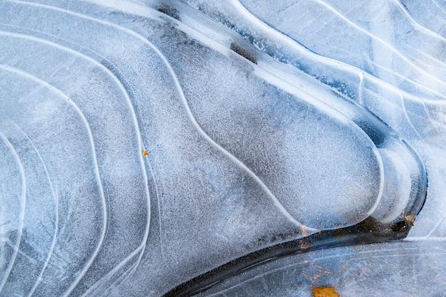 Natuurlijke textuur van ijsstructuur en sneeuw