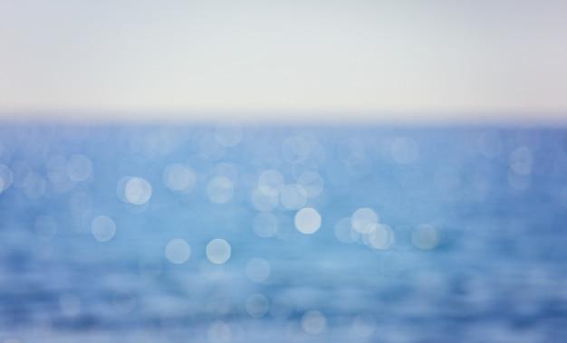Natuurlijke zee bokeh
