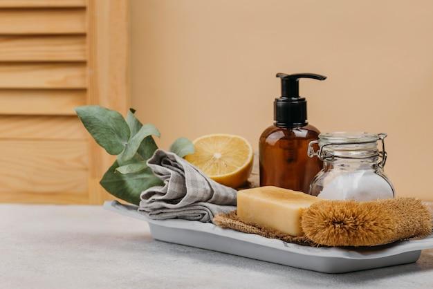 Natuurlijke zeep en biologische lichaamsolie