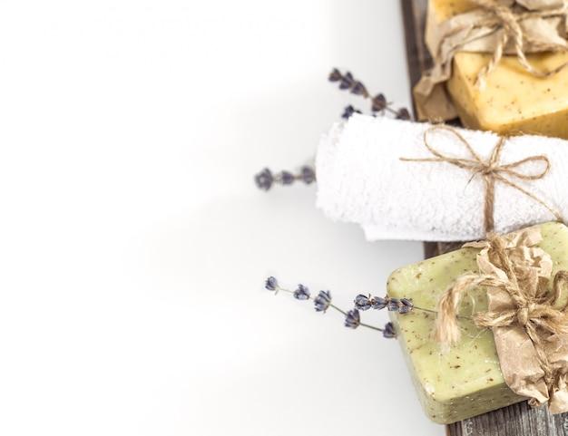 Natuurlijke zeep spa set