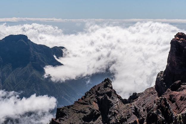 Natuurpark voor uitbarsting in cumbre vieja, canarische eilanden, spanje