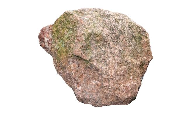 Natuursteen geïsoleerd op witte achtergrond