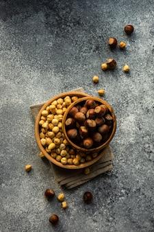 Natuurvoedingconcept met noten