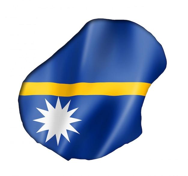 Nauru vlag kaart