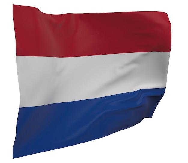 Nederlandse vlag geïsoleerd. zwaaiende banner. nationale vlag van nederland