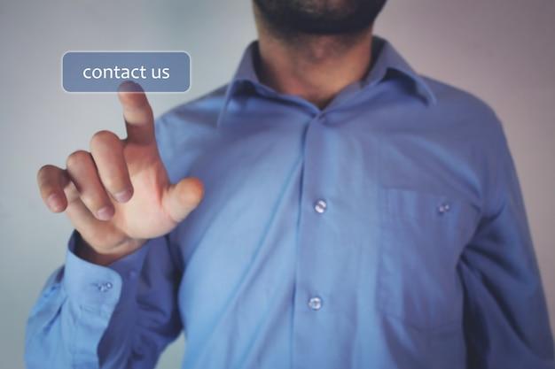 Neem contact met ons op concept