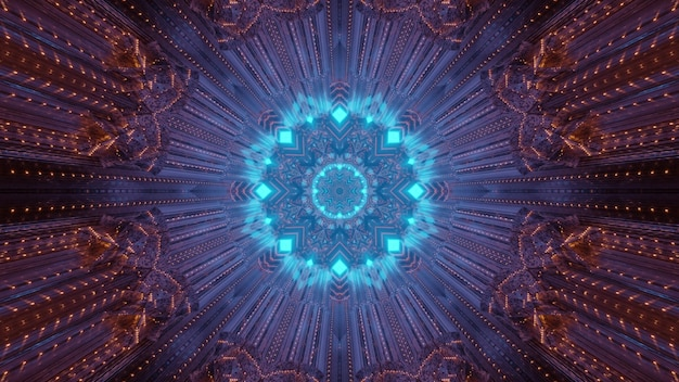 Neon gloeiende patroon 3d illustratie