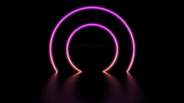 Neon kleurrijke levendige cirkels