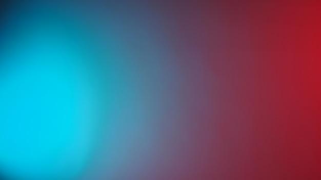 Neon rood en tiffany blauw led licht achtergrond. moderne kleur wazig of verloop achtergrond.