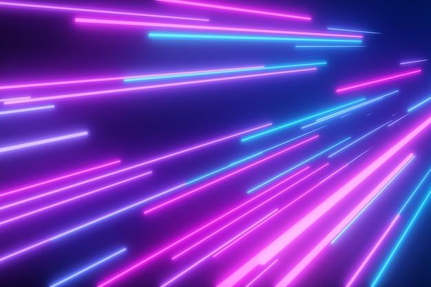 Neon roze blauwe lichte strepen