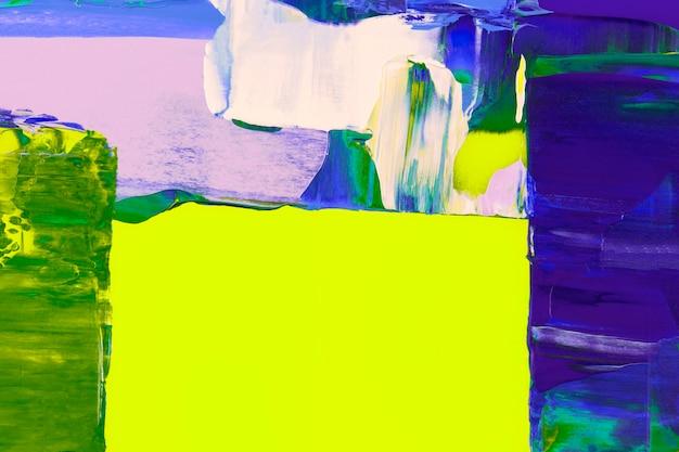 Neonbehangachtergrond, abstracte verftextuur met gemengde kleuren