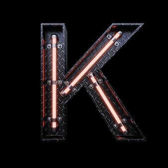 Neonlicht letter a met rode neonlichten.