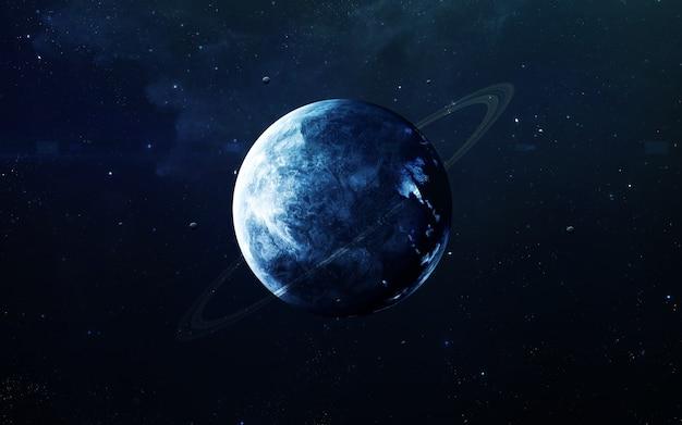 Neptunus - prachtige kunst in hoge resolutie presenteert de planeet van het zonnestelsel