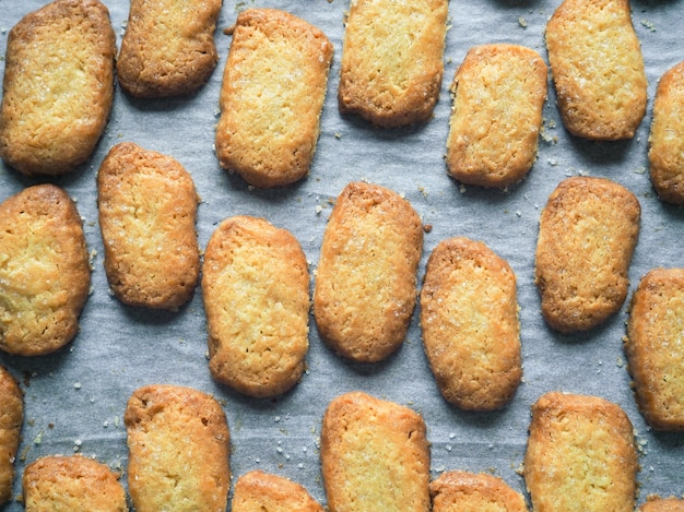 Net gebakken zandkoekjes. gemberkoekjes. vers gebakken koekjes.