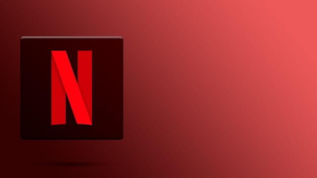 Netflix-logo op 3d-platform