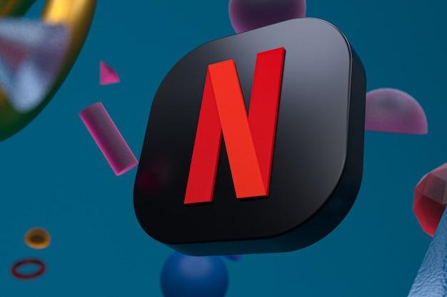 Netflix-logo op abstracte geometrie