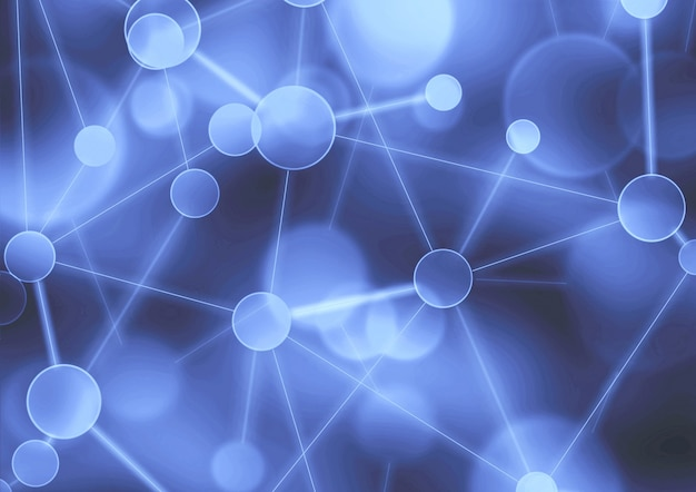 Netwerk abstracte paarse achtergrond neural sociaal netwerk blockchain netwerk