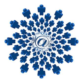Netwerk bericht news e-mail spinnenweb cijfers fig.